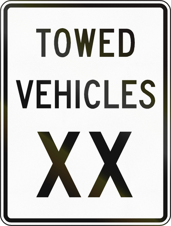 towed: United States traffic sign: Towed vehicles XX, Virginia