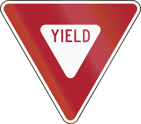 yield sign: United States traffic sign: Yield sign