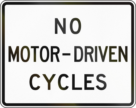 United States traffic sign: No motor driven cycles