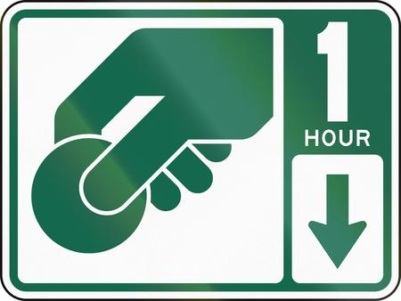honorarios: Se�al de tr�fico de Estados Unidos: Parking estaci�n cuota