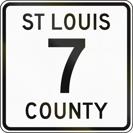 st louis: United States St Louis County highay shield Stock Photo
