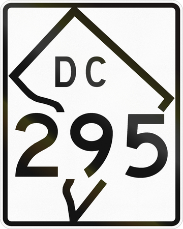 territorial: Unites States District Of Columbia Territorial Highway shield Stock Photo