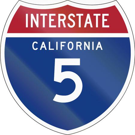 interstate: United States interstate route shield - California.