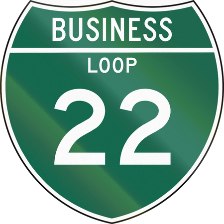 in the loop: Off-Interstate Business Loop shield.