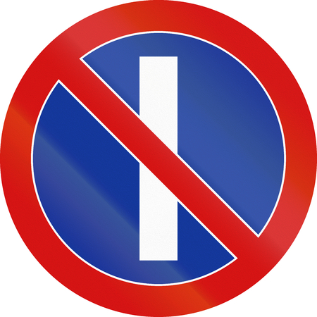 odd: Polish regulatory sign - no parking on odd calender days.