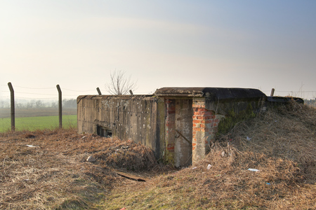 image created 21st century: An old WWII bunker near Lostau, Saxony-Anhalt, Germany. The image was created using a HDR technique.
