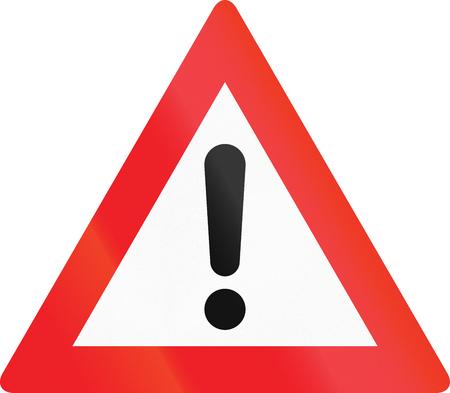 Austrian warning sign for general dangers (Allgemeine Gefahrstelle).