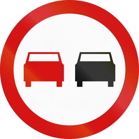 overtaking: Polish traffic sign: No overtaking!