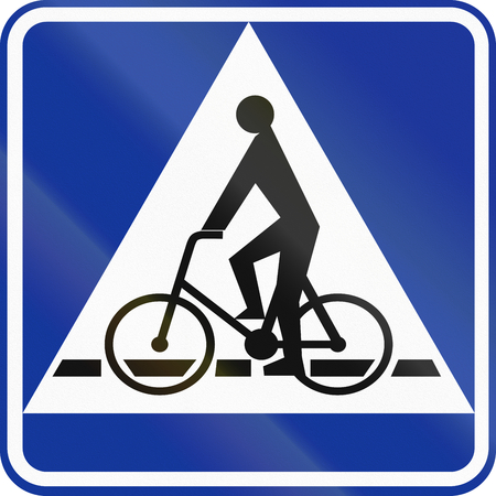 give way: Polish traffic sign: Bicyclle crossing (give way).