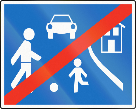 Austrian traffic sign: End of home zone. photo
