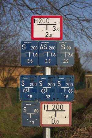 lettre s: Collection de soupape de grille et bouches d'eau signes en Allemagne.
