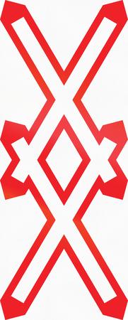 double cross: Warnkreuz  austriaca segnale di avvertimento per non custodito multitraccia passaggio a livello.