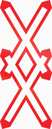 double cross: WarnkreuzAustrian warning sign for unguarded multi-track level crossing.