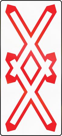 double cross: Warnkreuz  austriaca segnale di avvertimento per il multi-track passaggio a livello non custodito.