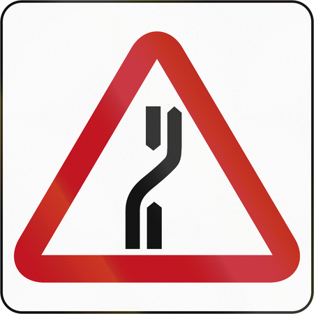 Road sign in Brunei: Carriageway Diverts To Right