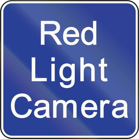 rote ampel: Road sign in Brunei: Rotlicht Kamera