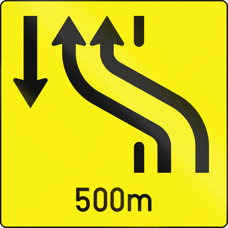 crossover: Austrian information sign 16ca - lane crossover.