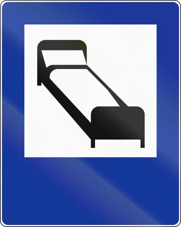 overnight stay: Polish traffic sign: Hotel or motel