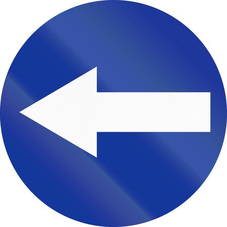 turn left: Traffico polacco segno: Girare a sinistra