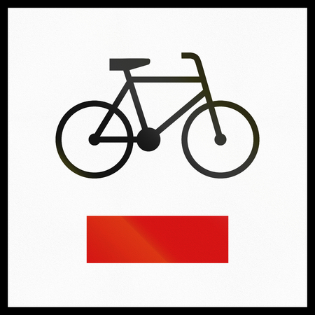 informational: Polish informational sign: Regional cycle route.