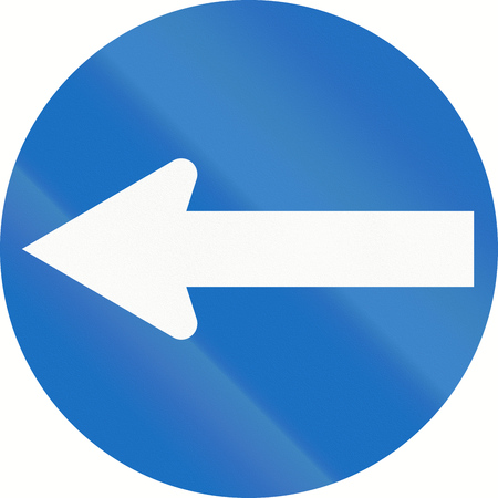 turn left: Austrian traffic sign: Turn left