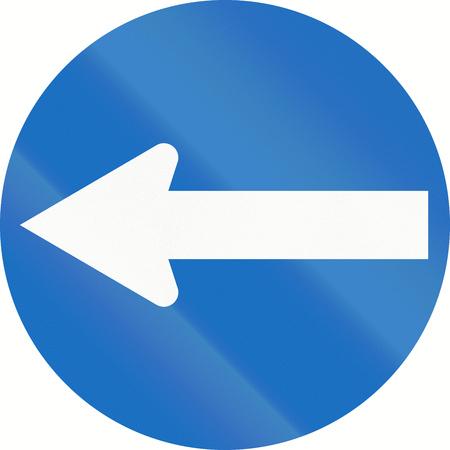 turn left: Traffico austriaco segno: Girare a sinistra