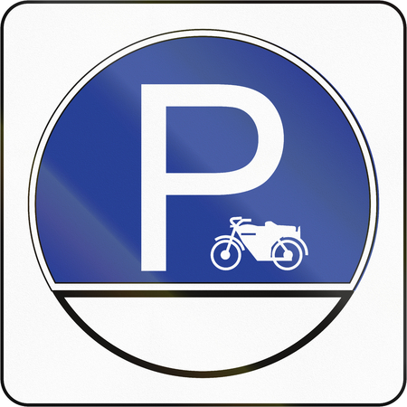quadratic: Road sign in Brunei: Parking place for Motorcycles.