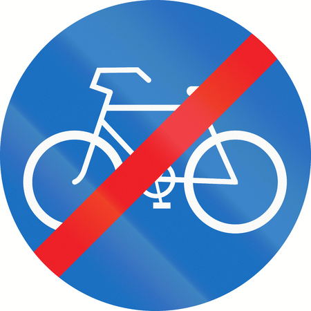 Austrian sign for end of bicycle lane. photo