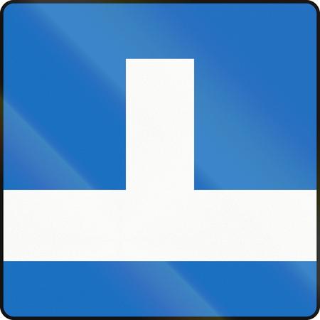 Austrian traffic sign: Dead end. Stock Photo