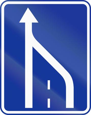 slow lane: Polish traffic sign: End of slow lane.