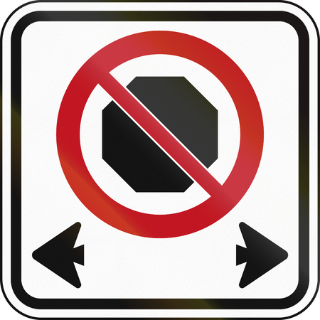 stopping: Canadian road sign: No stopping Stock Photo
