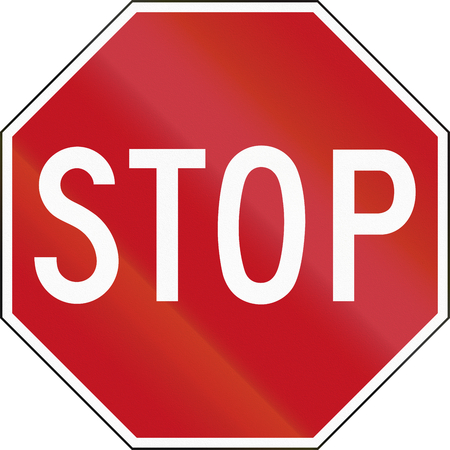 stop sign: Stop sign in Canada.