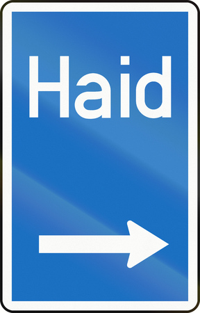 right handed: Austrian exit marker on motorway or expressway.