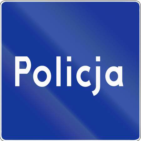 Polish road sign D-21a: Police