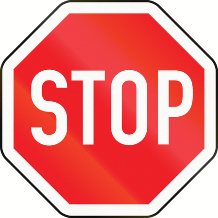 Stop sign in Austria.