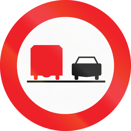 overtaking: Austrian traffic sign: No overtaking by lorries!