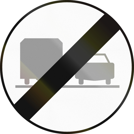 overtaking: Austrian traffic sign: End of no overtaking by lorries zone.