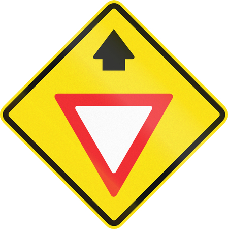 yield sign: Chilean road warning sign: Yield ahead