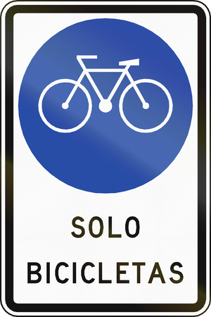 bicycle lane: Chilean sign for bicycle lane.