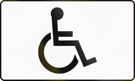 piktogramm: Polish additional road sign: Handicapped persons Stock Photo