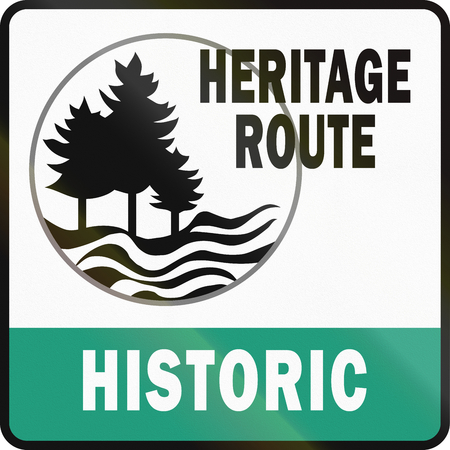 social history: Historic Heritage Route shield in Michigan in the USA.