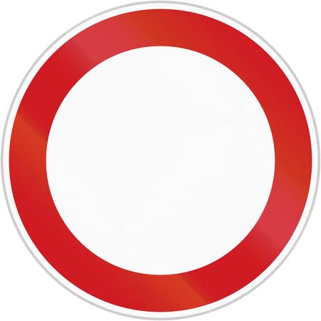 모든 차량에 대한 통행 금지 체코 로그인. 이 이미지는 예를 들어 많은 금지 표지판에 대한 템플릿으로 사용할 수 있습니다.