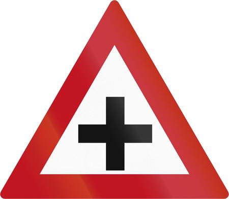botswanan: Botswanan sign warning about crossroads.