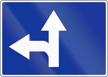 moving images: Polish road sign: Lane preselection