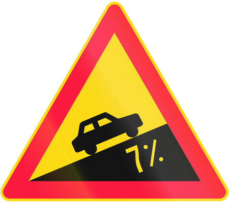 moving images: Road sign 116 - Steep slope