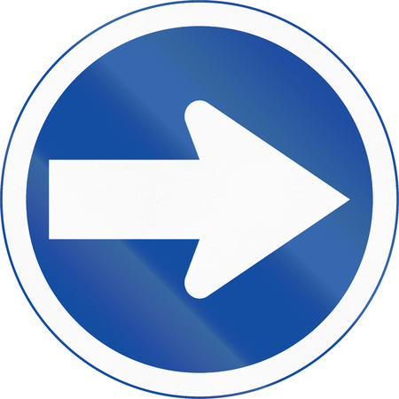 right handed: Botswanan traffic sign: Turn right