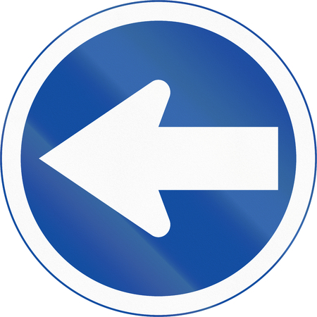 turn left: Botswanan traffic sign: Turn left