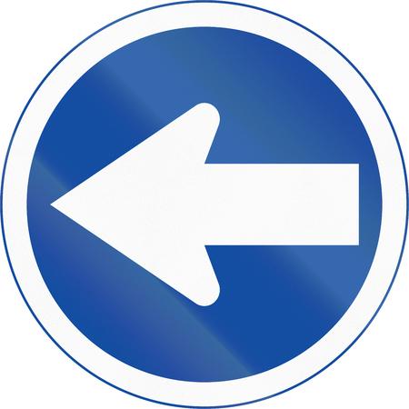 turn left: Traffico Botswana segno: Girare a sinistra Archivio Fotografico