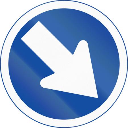 botswanan: Botswanan traffic sign: Keep right