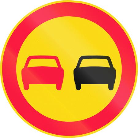 no pase: Signo de la carretera 351 en Finlandia - Adelantamiento